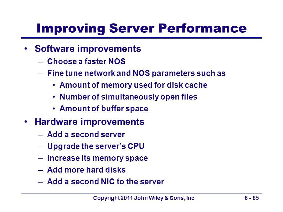 Improving Server Performance