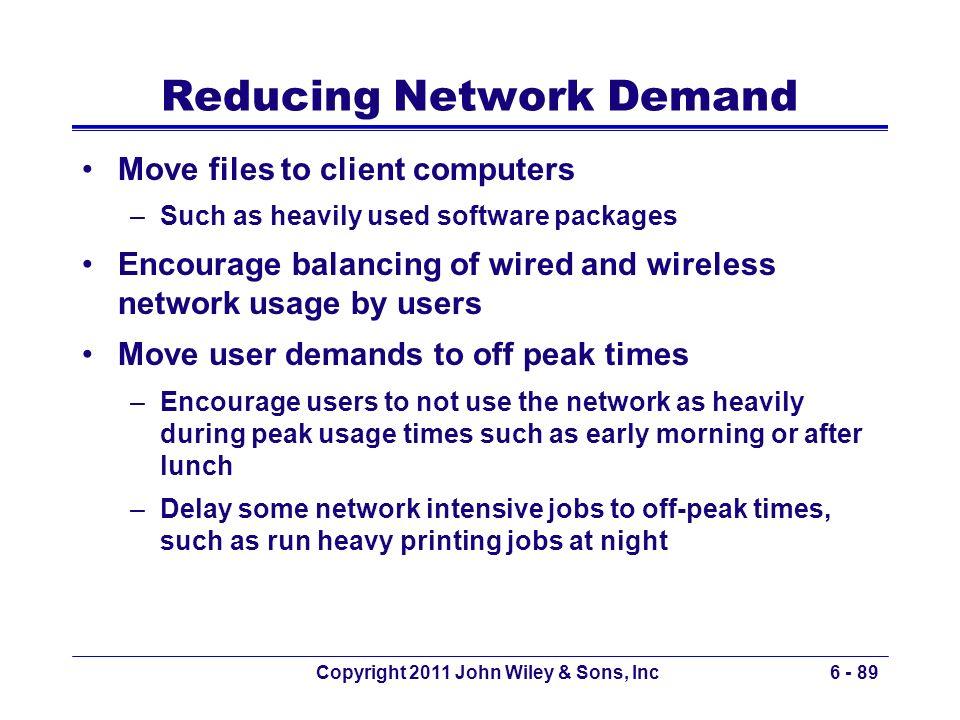 Reducing Network Demand