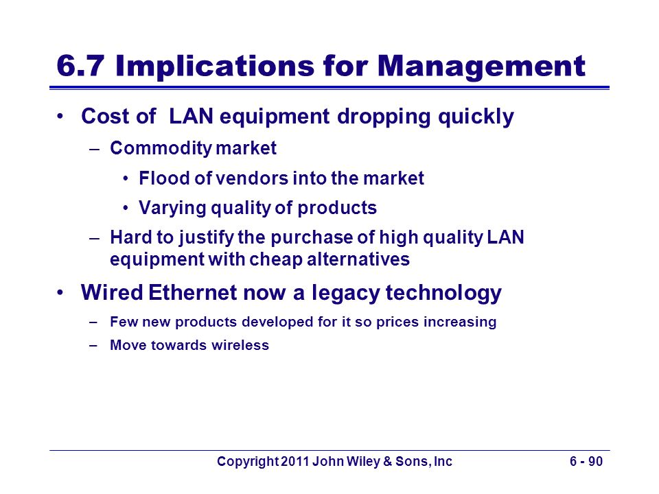 6.7 Implications for Management
