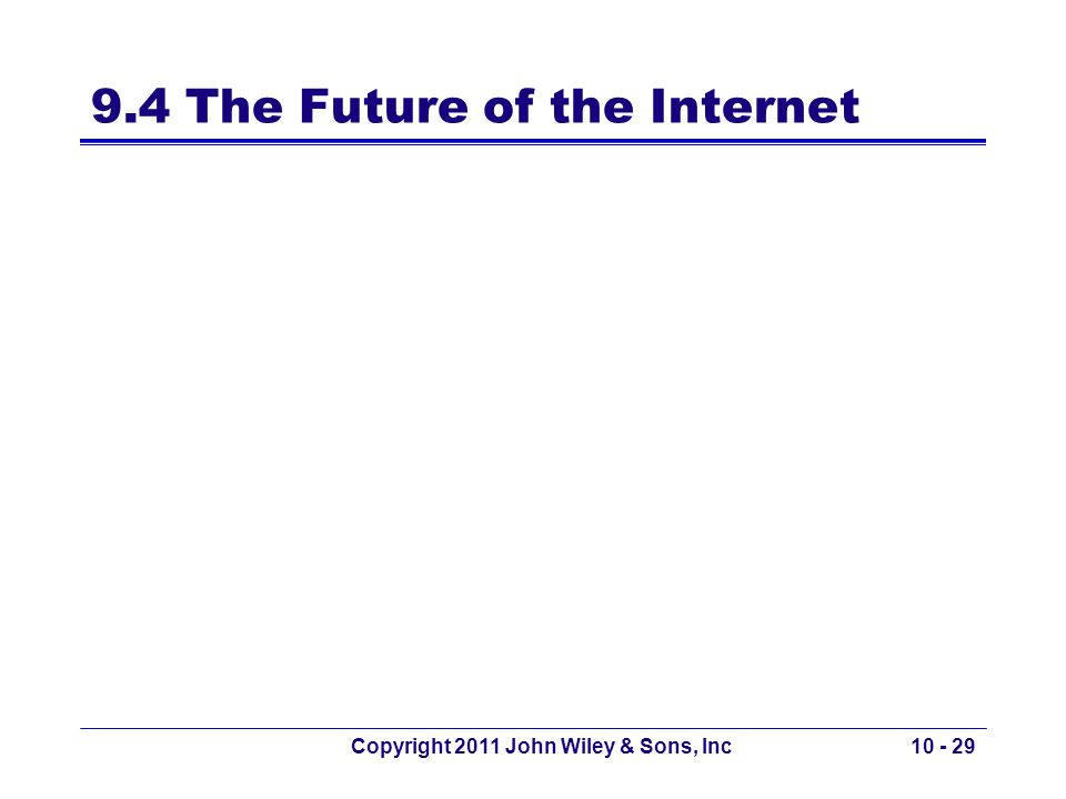 9.4 The Future of the Internet