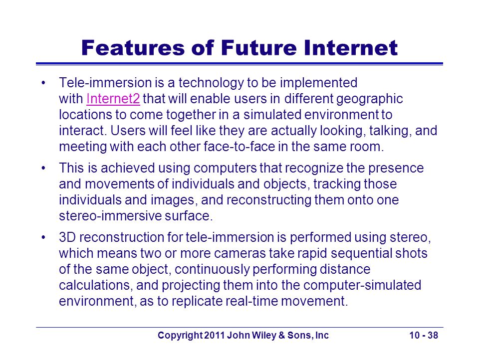 Features of Future Internet