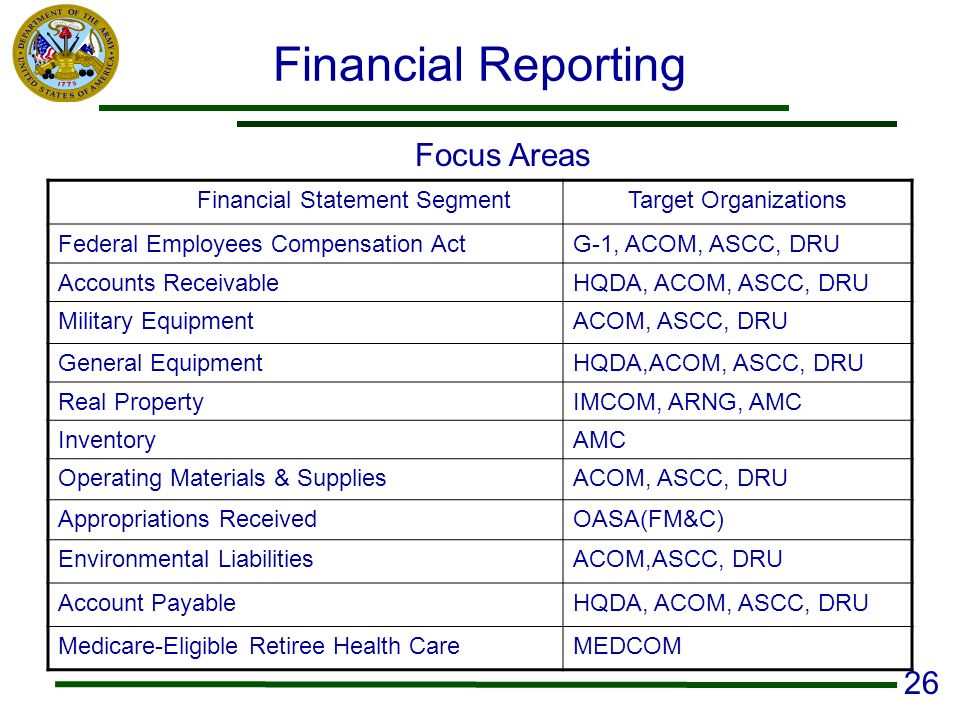 Financial Statement Segment