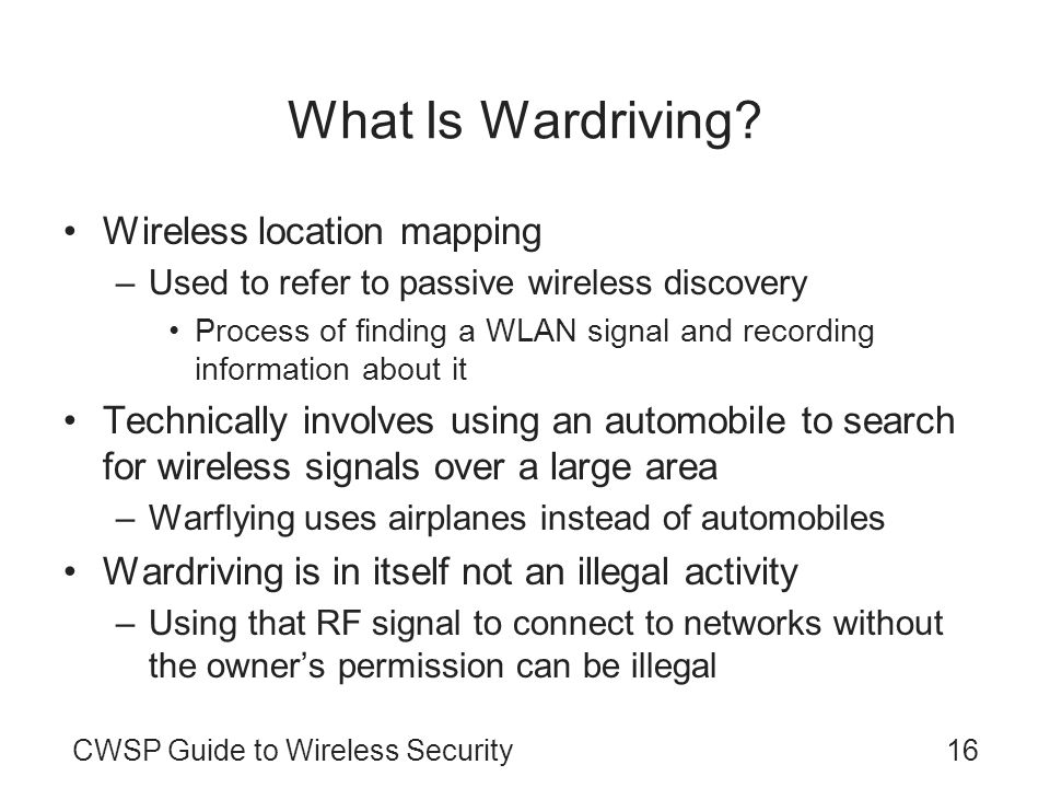 What Is Wardriving Wireless location mapping