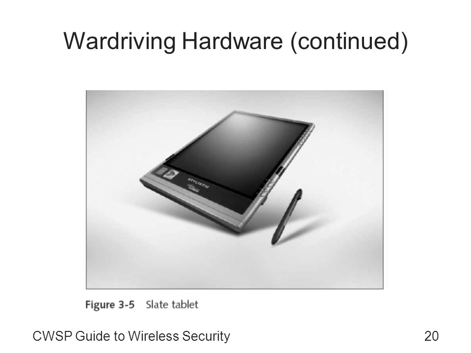 Wardriving Hardware (continued)