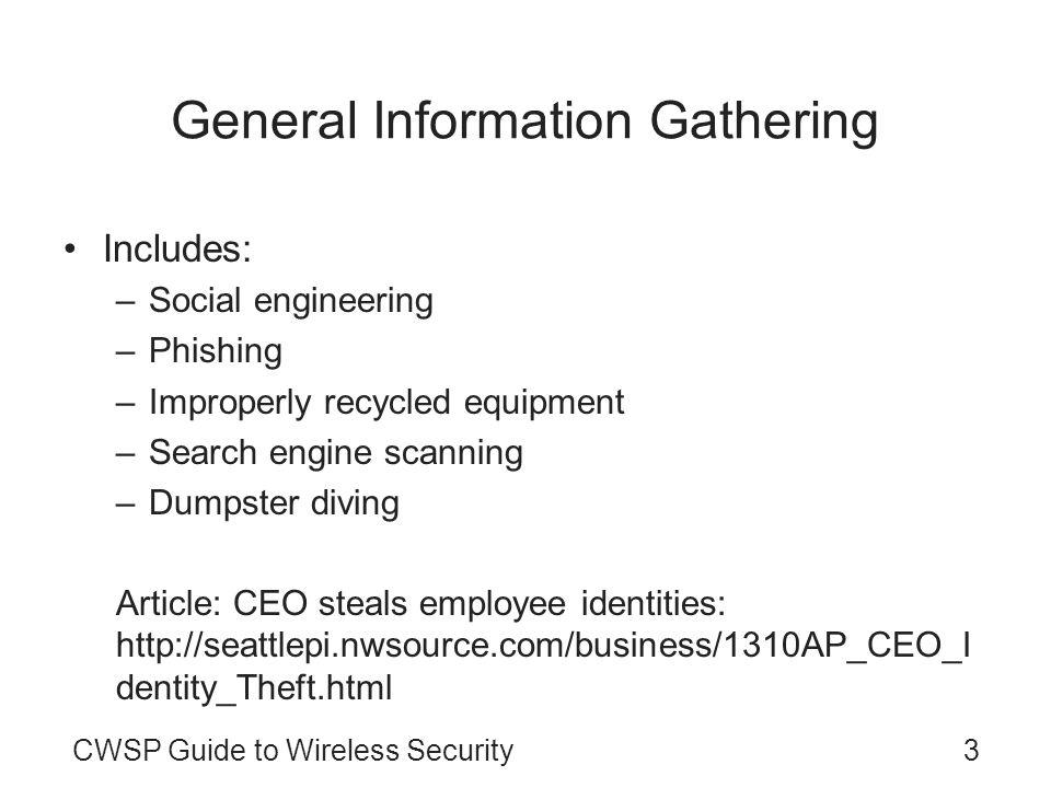 General Information Gathering