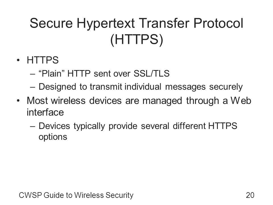 Secure Hypertext Transfer Protocol (HTTPS)