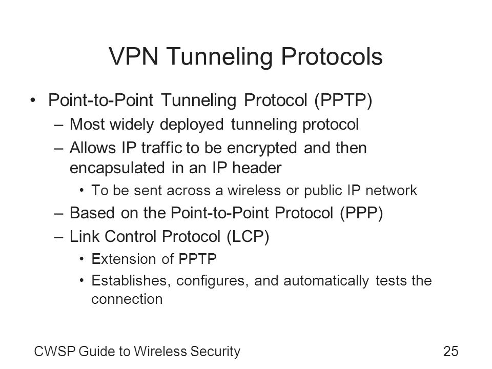 VPN Tunneling Protocols