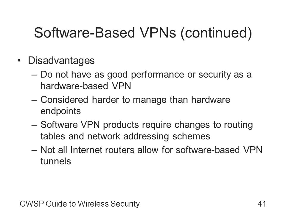 Software-Based VPNs (continued)