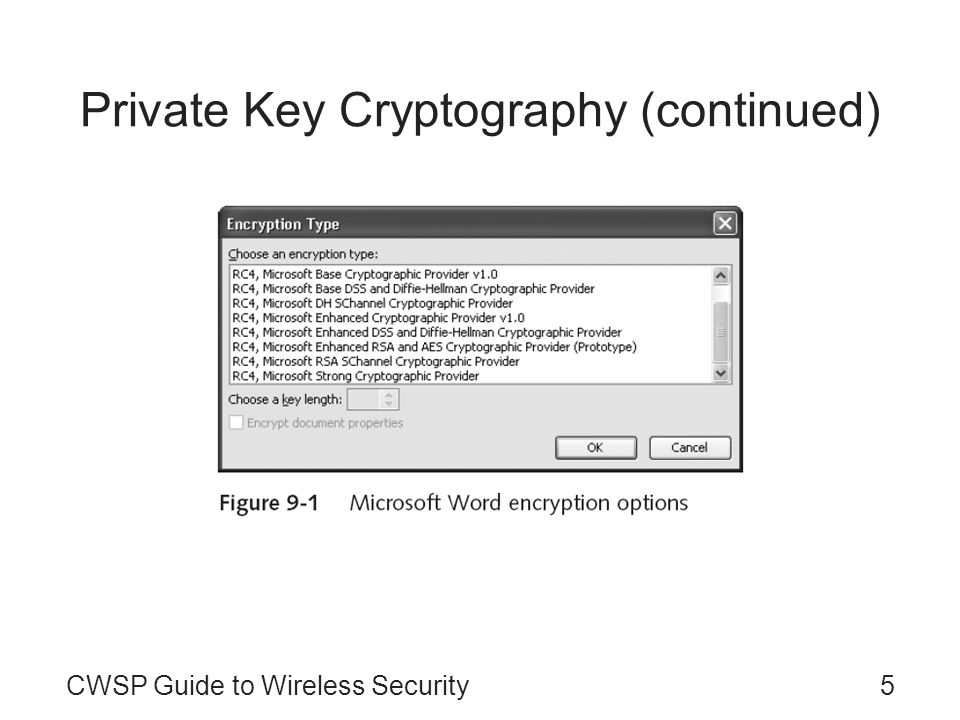 Private Key Cryptography (continued)