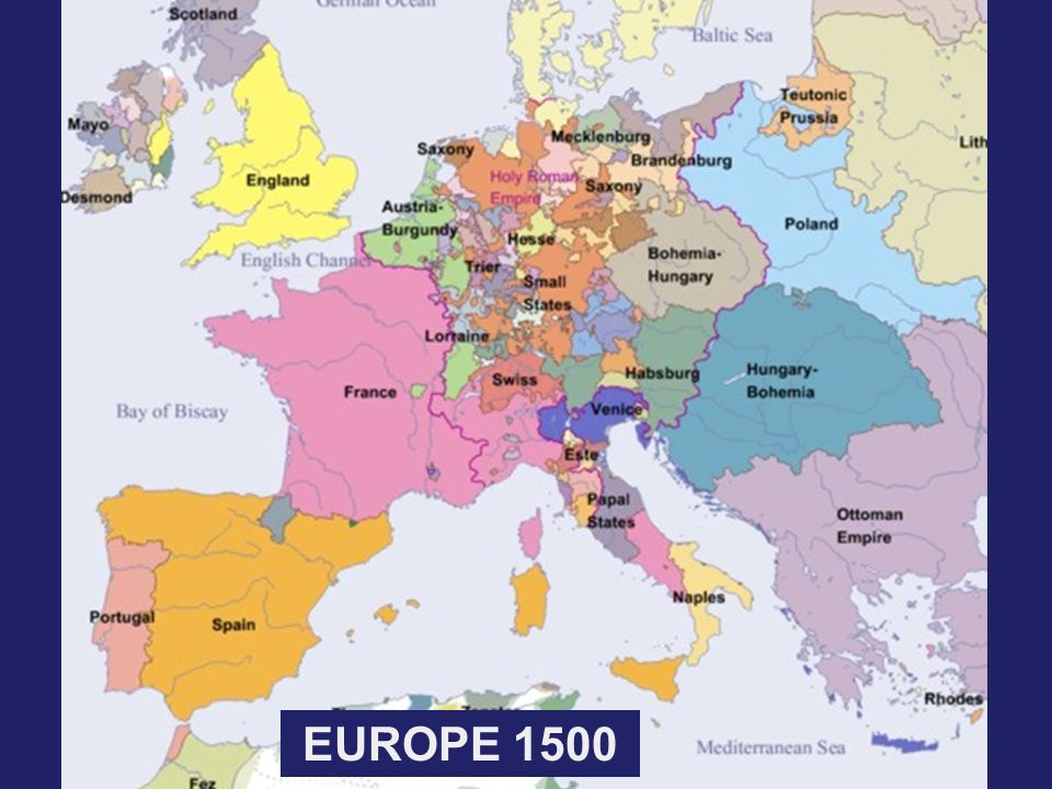 Map Of Europe In The 1500s.Europe Ppt Video Online Download