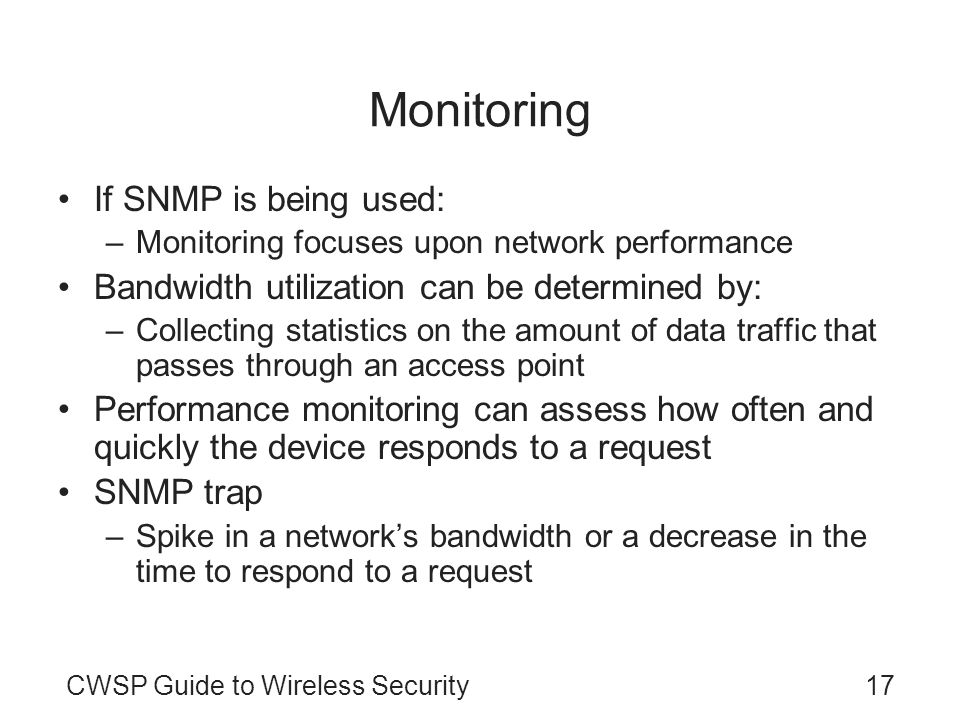 Monitoring If SNMP is being used: