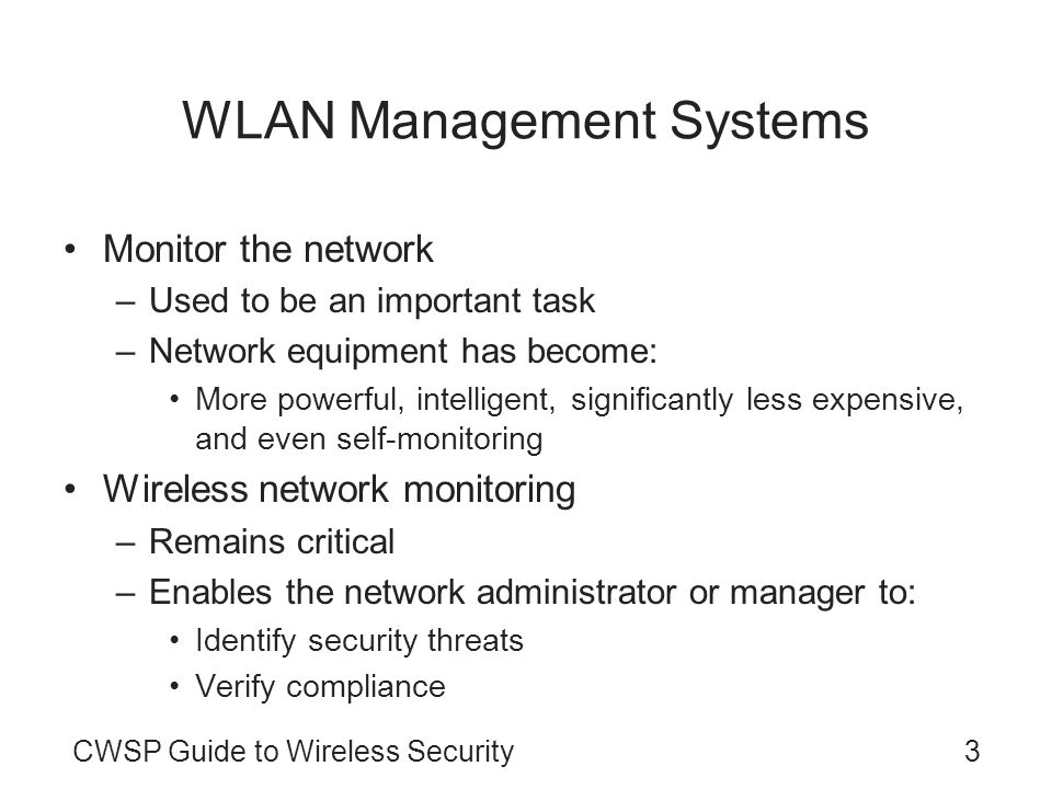 WLAN Management Systems