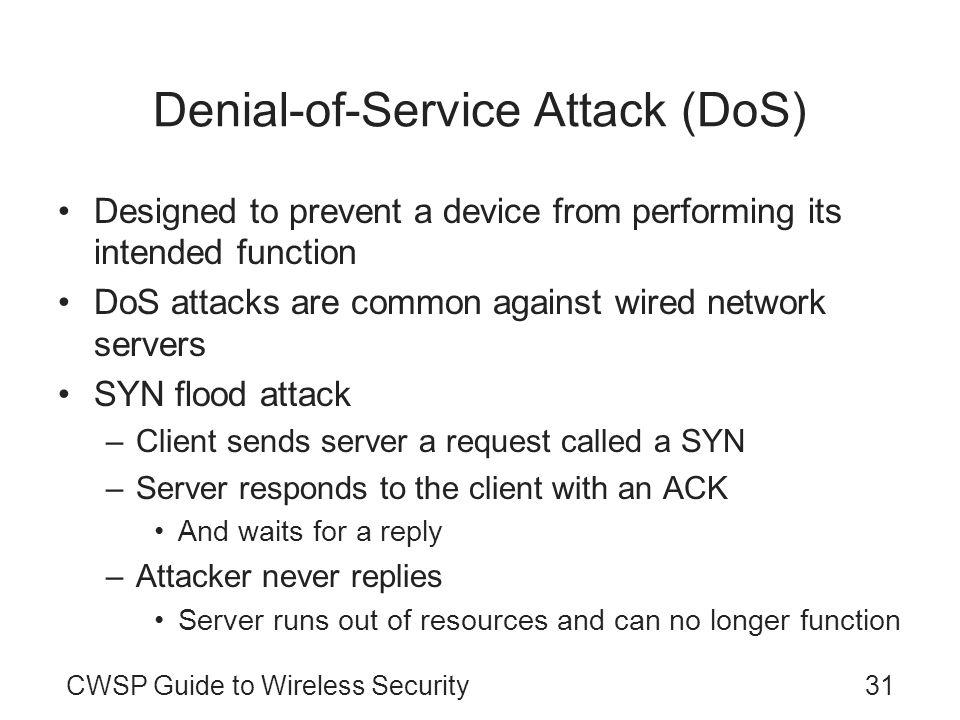 Denial-of-Service Attack (DoS)