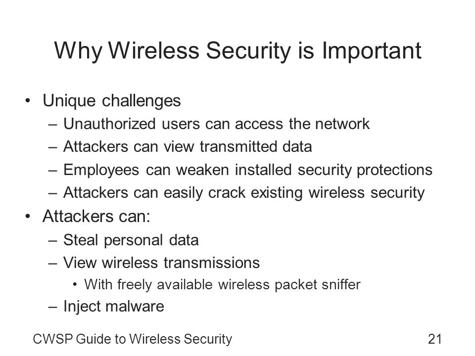 Why Wireless Security is Important