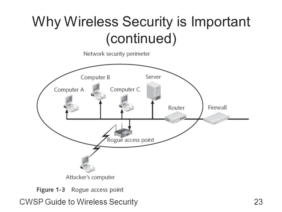 Why Wireless Security is Important (continued)