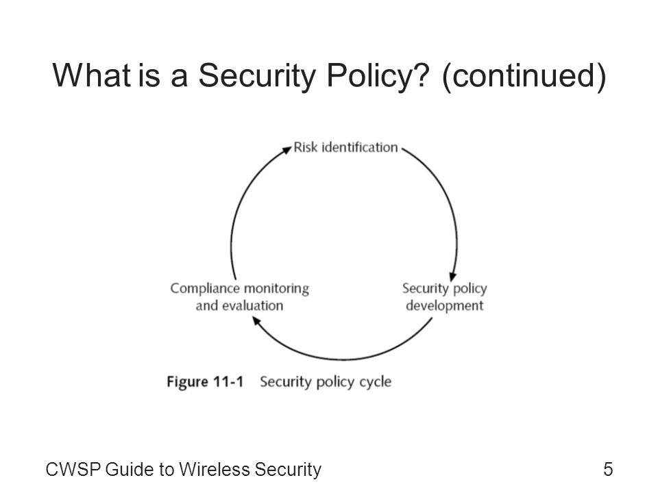 What is a Security Policy (continued)
