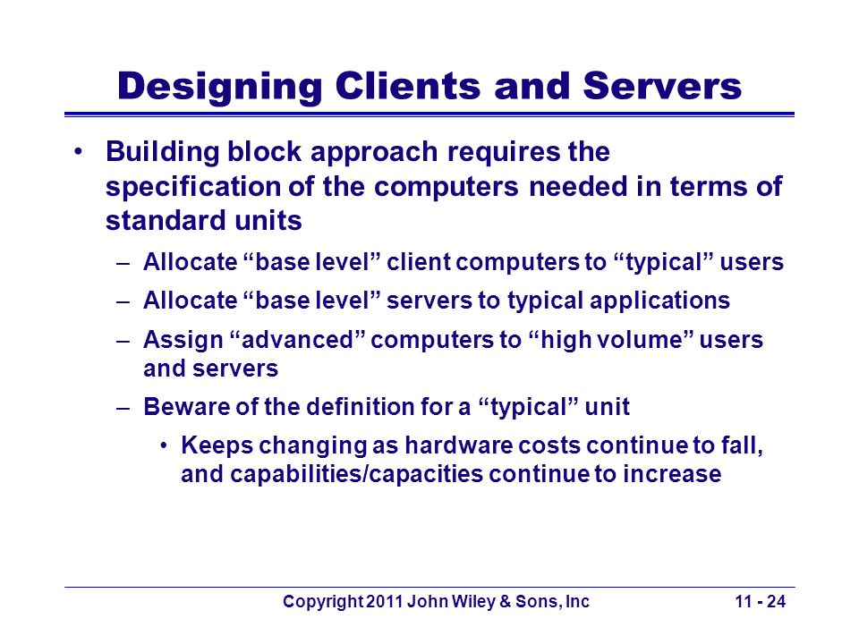 Designing Clients and Servers