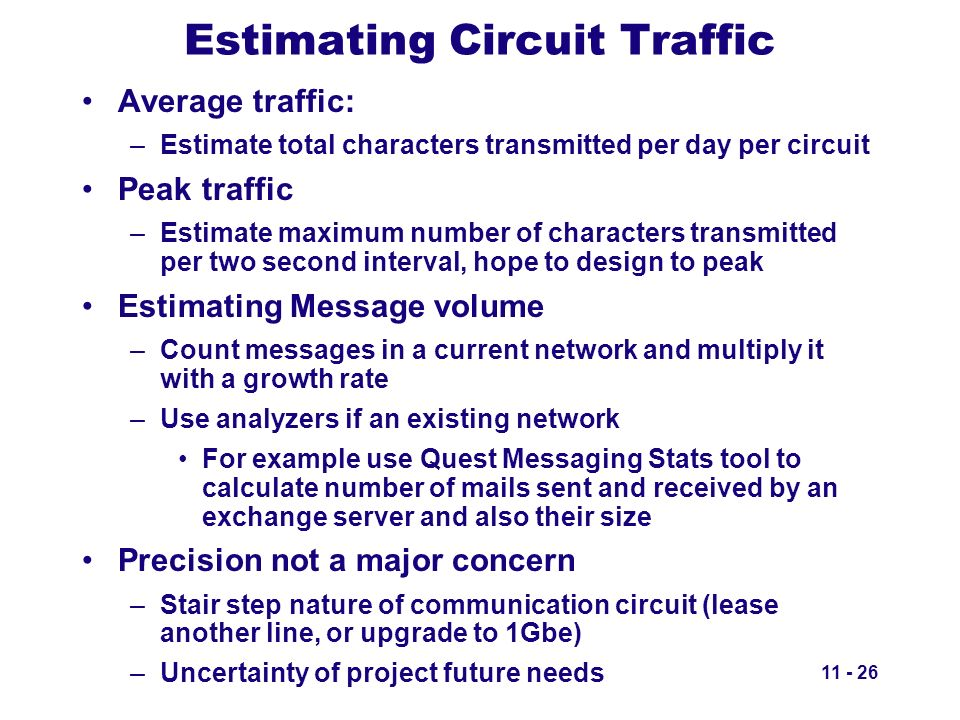 Estimating Circuit Traffic