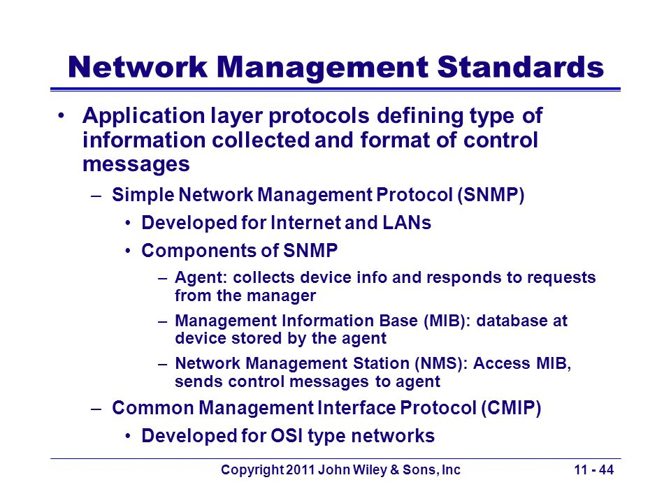 Network Management Standards
