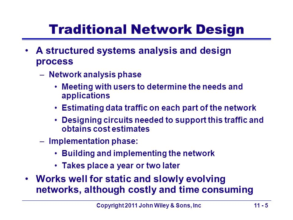 Traditional Network Design