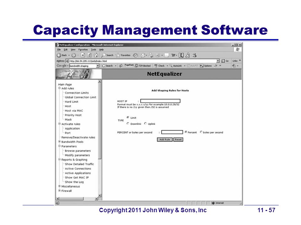Capacity Management Software
