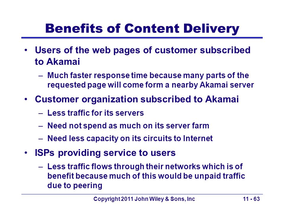 Benefits of Content Delivery