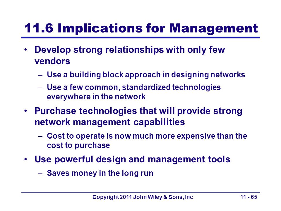 11.6 Implications for Management