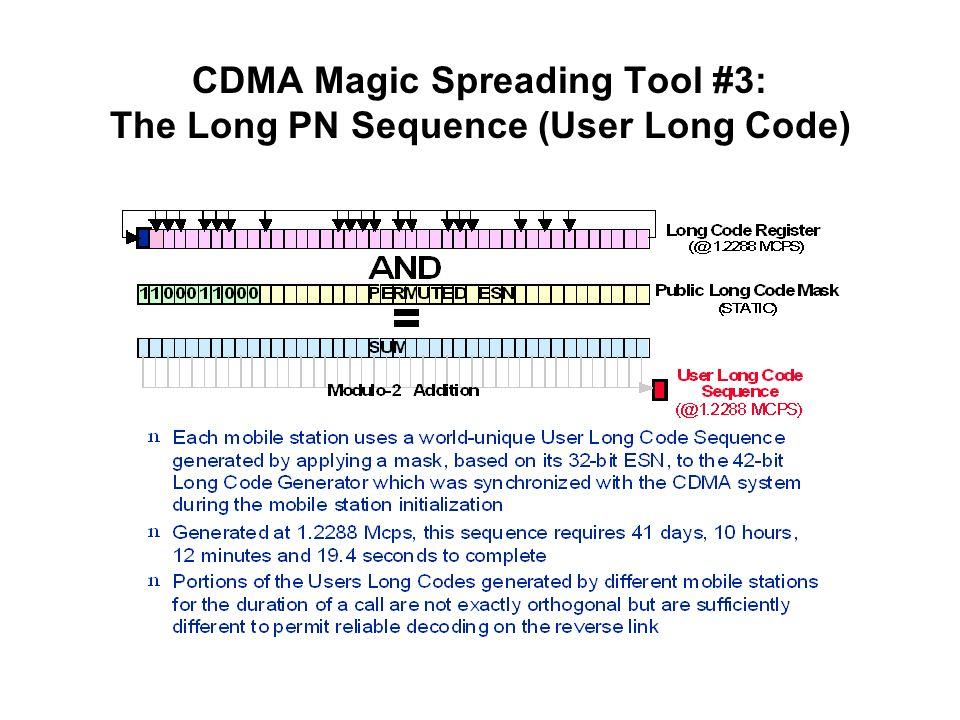 CDMA Magic Spreading Tool #3: The Long PN Sequence (User Long Code)