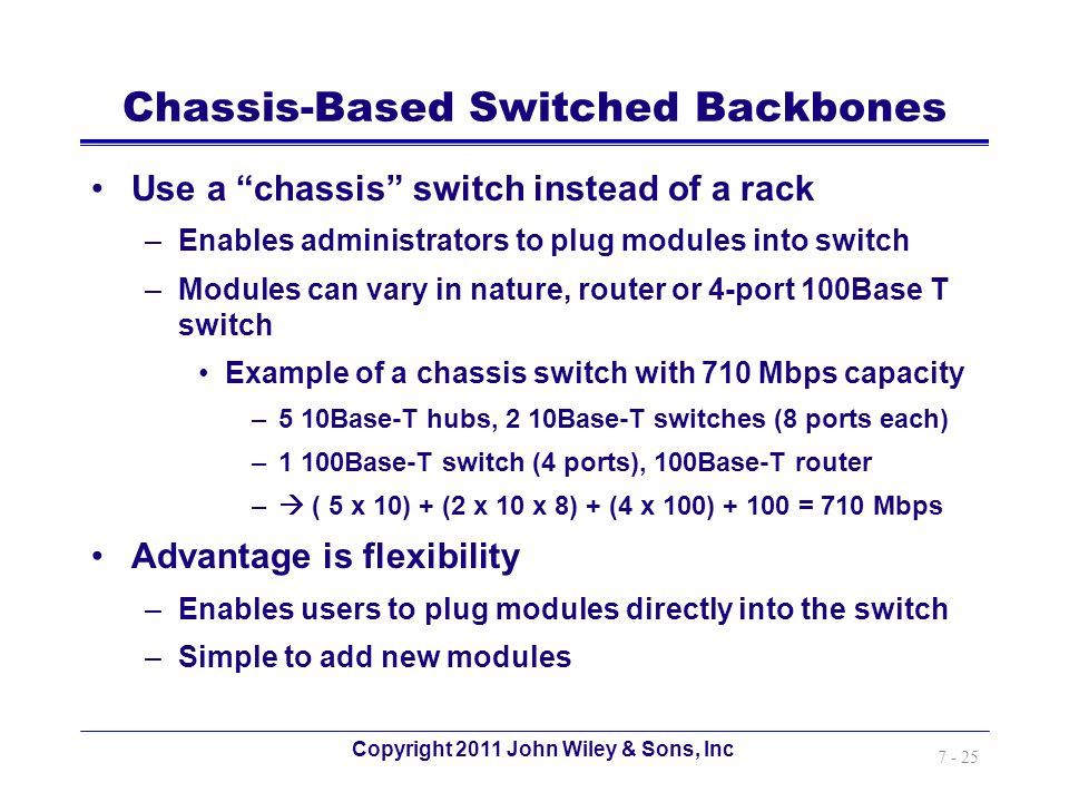 Chassis-Based Switched Backbones