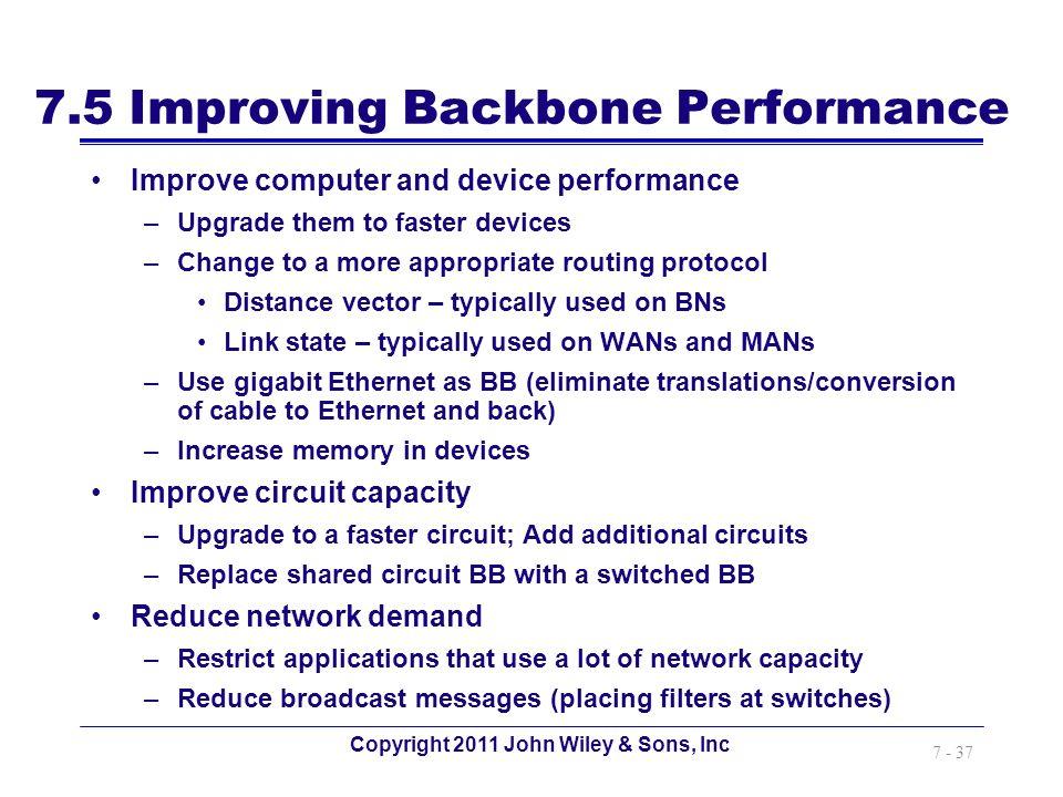 7.5 Improving Backbone Performance