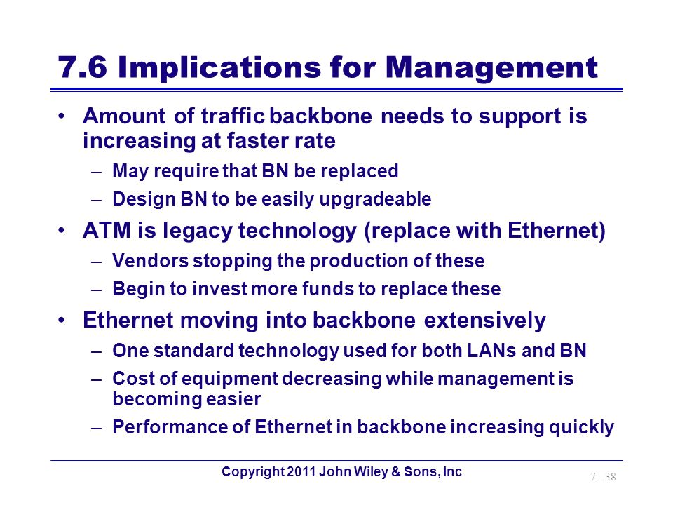7.6 Implications for Management