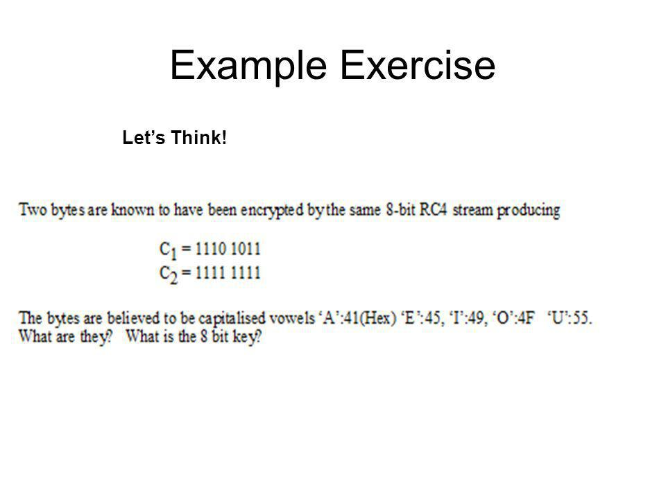 Example Exercise Let's Think!