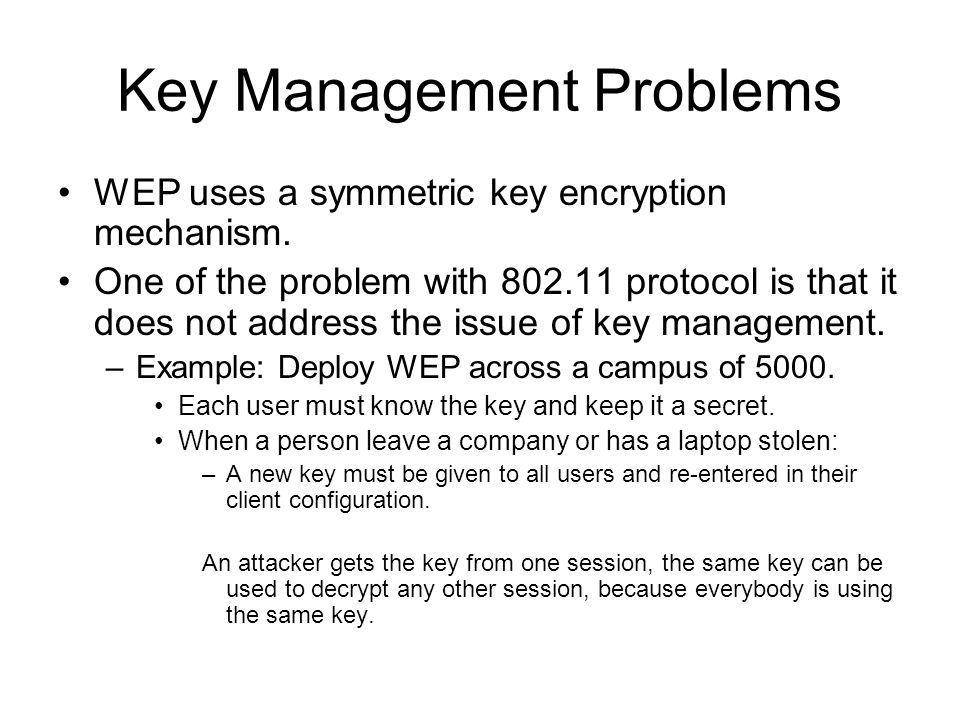 Key Management Problems