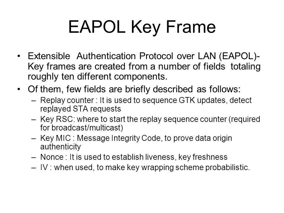 EAPOL Key Frame