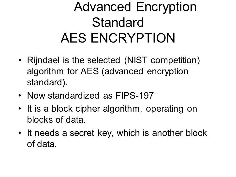 Advanced Encryption Standard AES ENCRYPTION