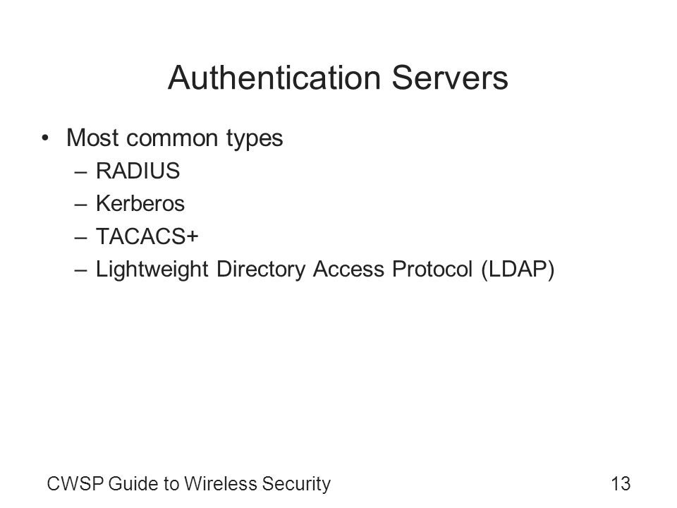 Authentication Servers
