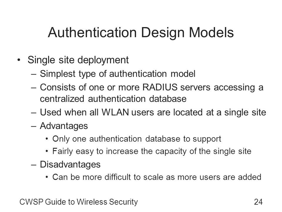 Authentication Design Models
