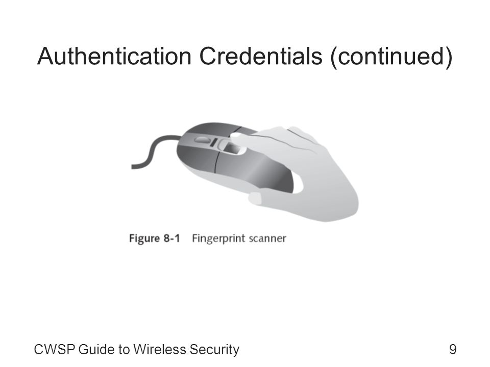 Authentication Credentials (continued)
