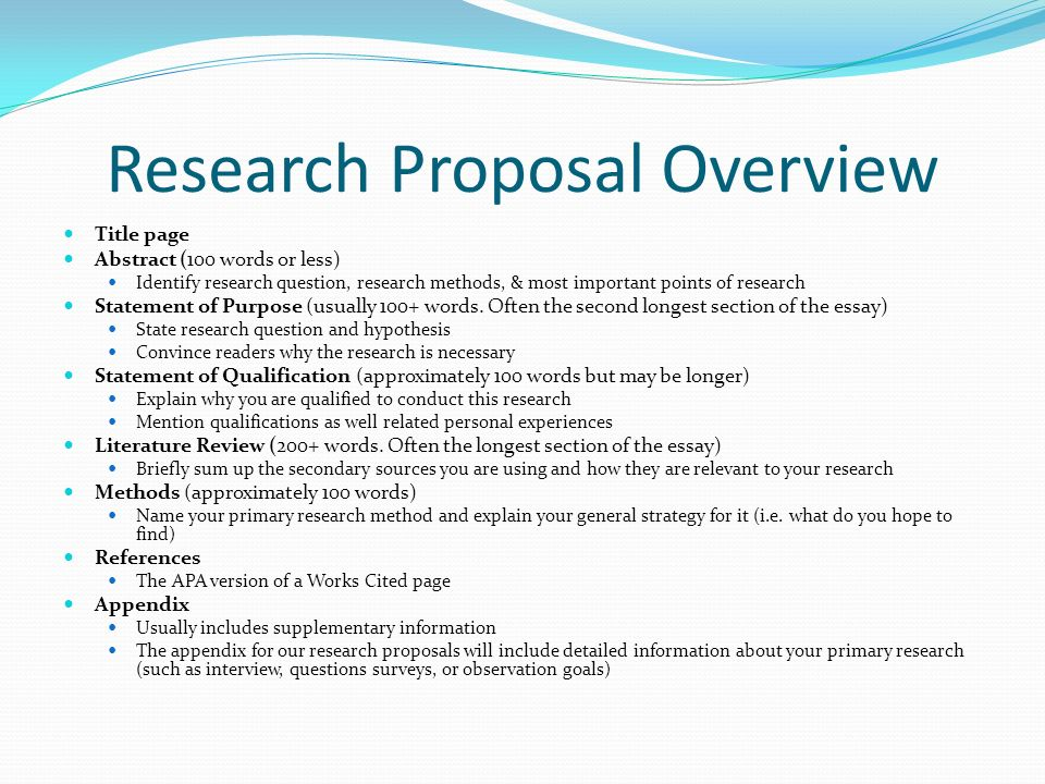 research propsal