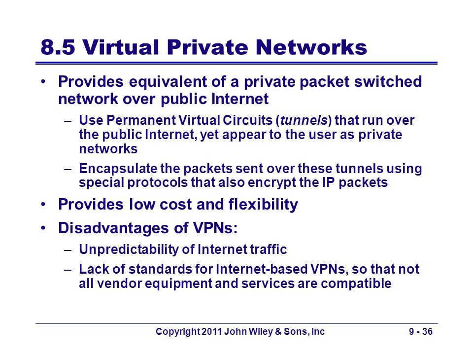 8.5 Virtual Private Networks