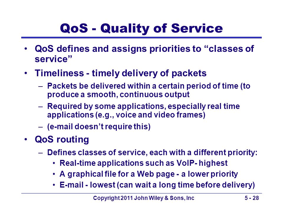 Quality of Service (QoS) Regulation