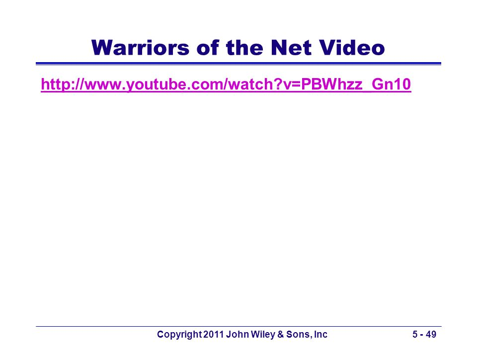 Warriors of the Net Video
