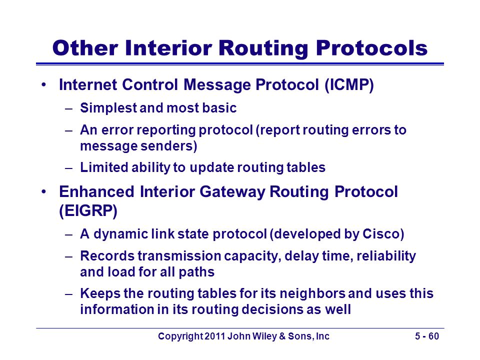Other Interior Routing Protocols