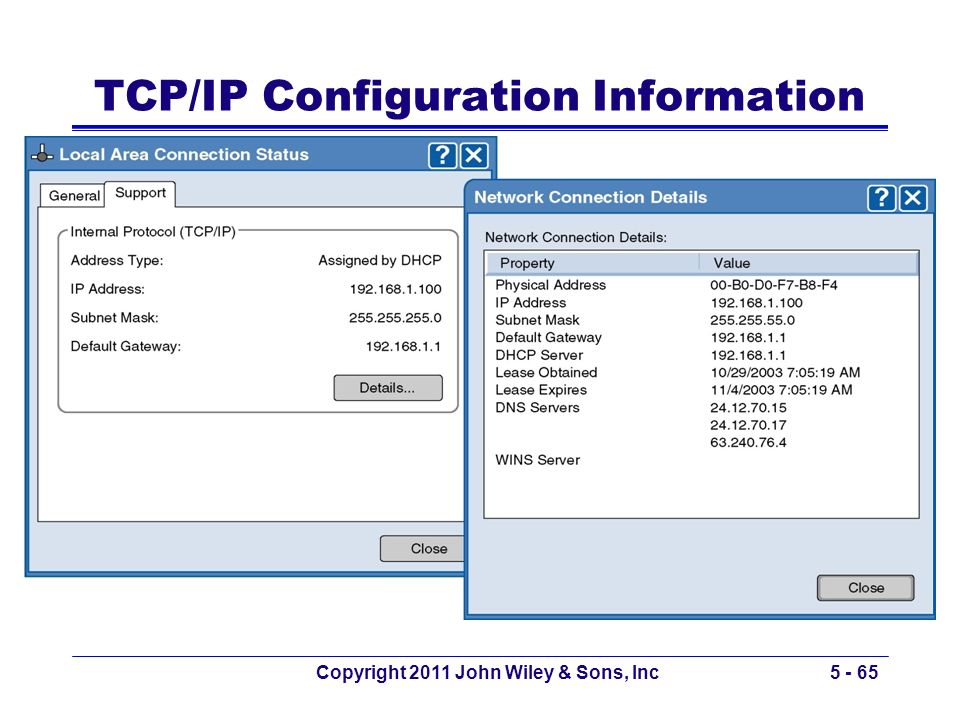 TCP/IP Configuration Information