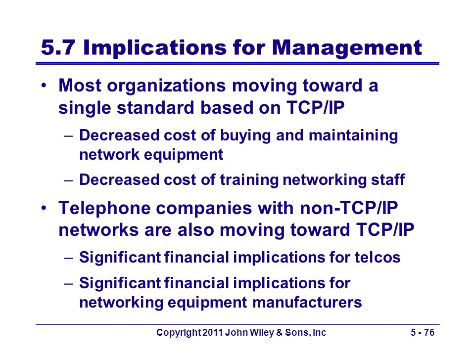 5.7 Implications for Management
