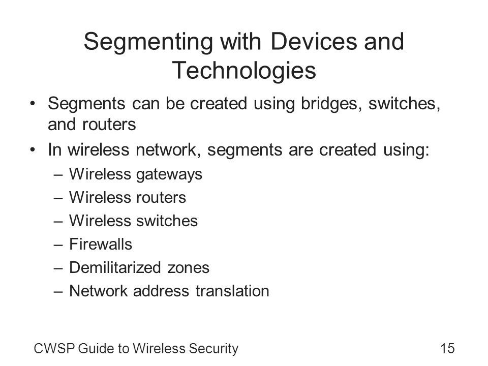 Segmenting with Devices and Technologies