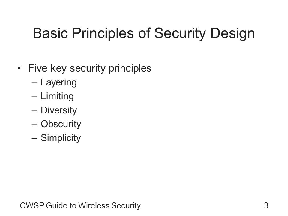 Basic Principles of Security Design