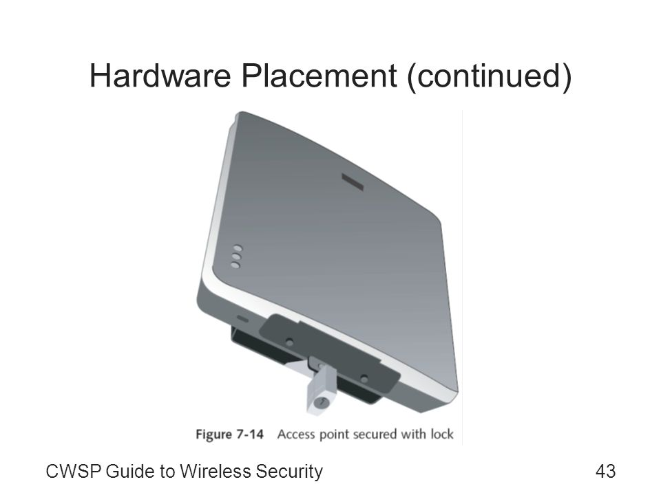 Hardware Placement (continued)