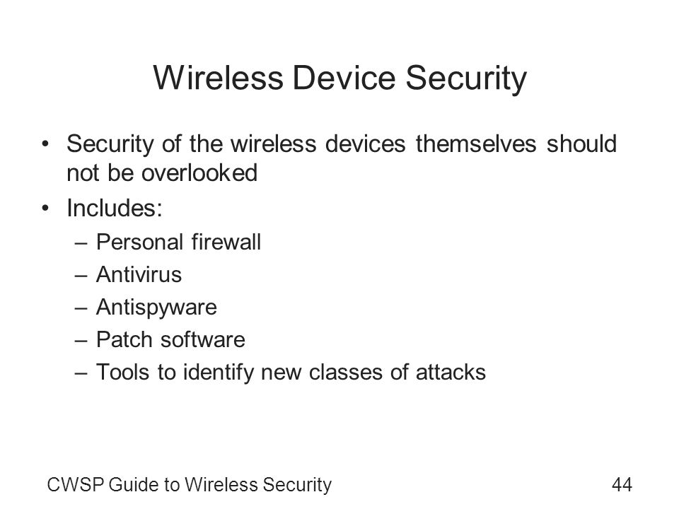 Wireless Device Security