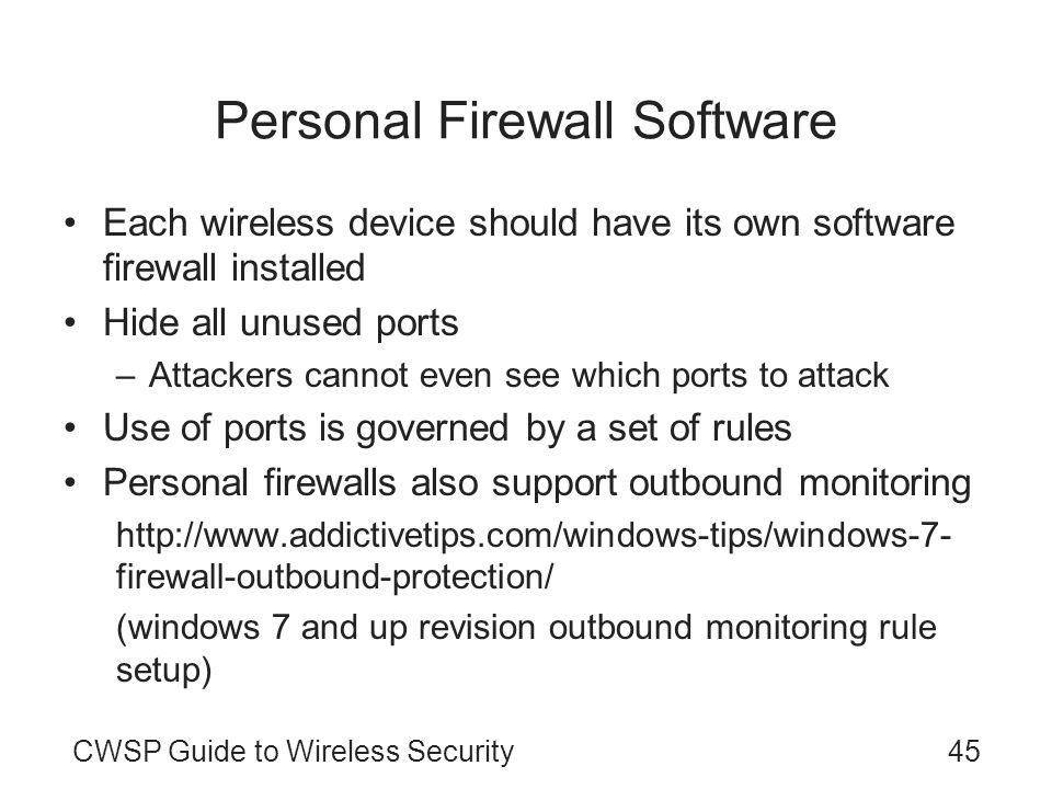 Personal Firewall Software